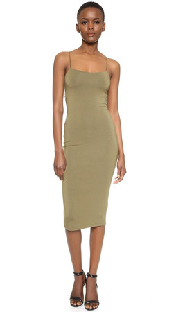 T By Alexander Wang Strappy Tank Dress - Army
