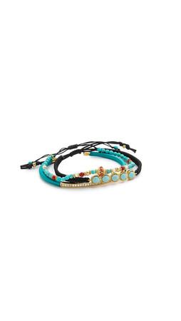 Tai Beaded Trio Bracelet - Turquoise