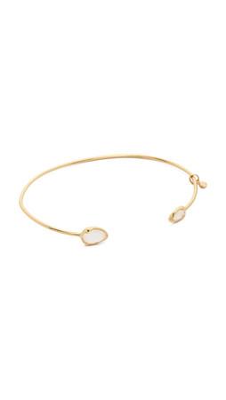 Tai Dual Stone Bracelet - Gold/Moon