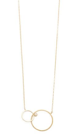 Tai Interlocking Circle Necklace - Gold