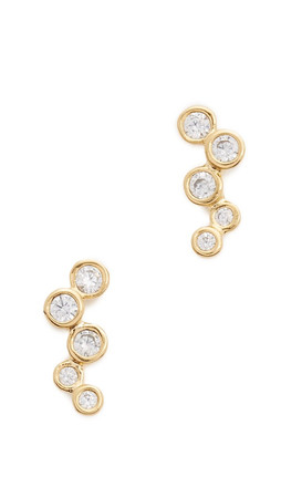 Tai Stacked Earrings - Gold/Clear