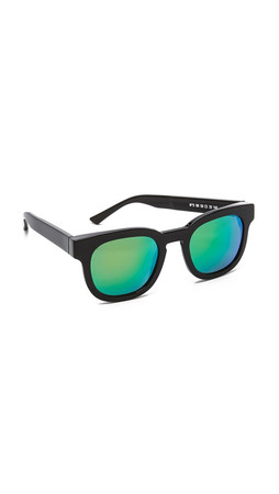 Thierry Lasry Garrett Leight X Thierry Lasry Sunglasses - Black/Green Mirror