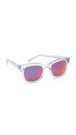 Thierry Lasry Garrett Leight X Thierry Lasry Sunglasses - Clear/Pink Mirror
