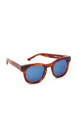 Thierry Lasry Garrett Leight X Thierry Lasry Sunglasses - Havana/Blue Mirror