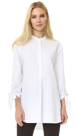 Tibi Tie Sleeve Tunic - White