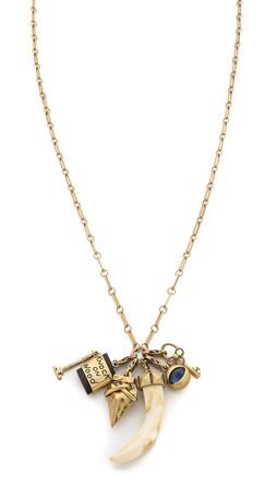 Tory Burch Charm Pendant Necklace - Gold Ox