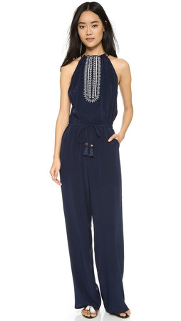 Tory Burch Embellished Jumpsuit - Tory Navy