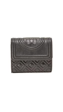 Tory Burch Fleming Mini Flap Wallet - Black