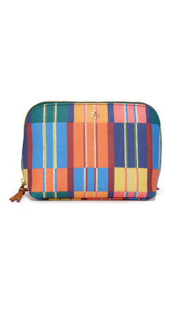 Tory Burch Kerrington Cosmetic Case - Blanket Stripe