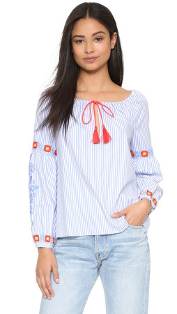 Tory Burch Madison Tunic - Blue Dusk/White