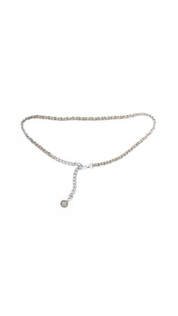 Tory Burch Marion Chain Belt - French Grey