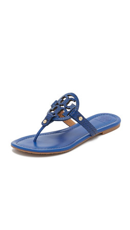 Tory Burch Miller Sandals - Hudson Blue