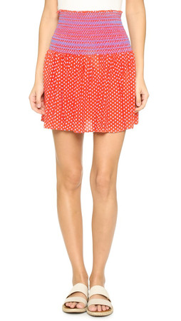 Tory Burch Myra Skirt - Poppy Red Mali