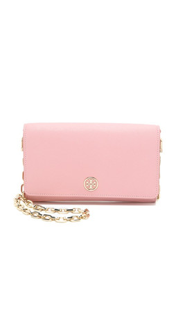 Tory Burch Robinson Chain Wallet - Rose Sachet