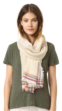 Tory Burch Signature Scarf - Ivory