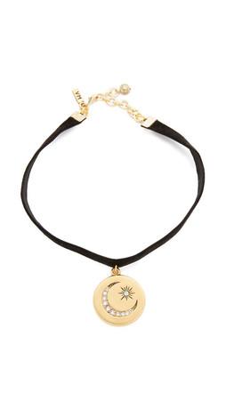 Vanessa Mooney Lillian Choker Necklace - Black/Gold
