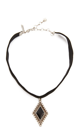 Vanessa Mooney My Cherie Choker Necklace - Black/Silver