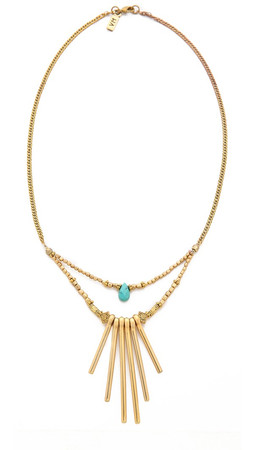 Vanessa Mooney The Crossroads Necklace - Gold