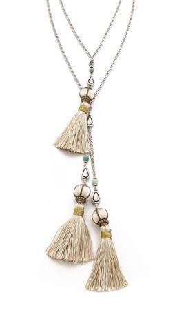 Vanessa Mooney The Novarro Tassel Necklace - Silver