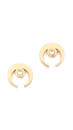 Vanessa Mooney The Sadi Crescent Moon Earrings - Gold