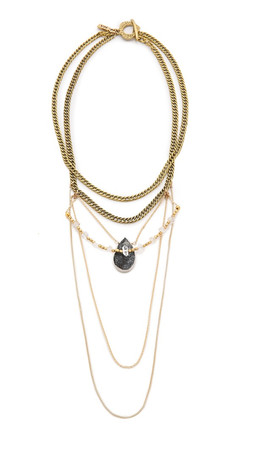 Vanessa Mooney The Taft Statement Necklace - Gold