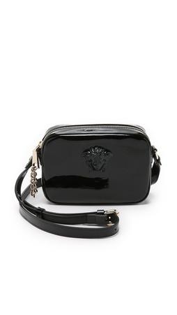 Versace Leather Cross Body Bag - Black/Gold