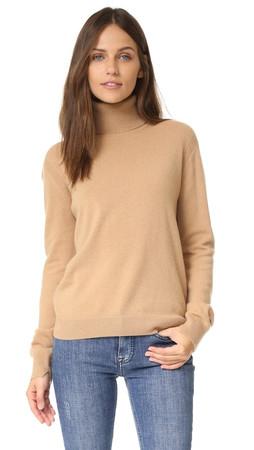 Vince Cashmere Turtleneck Sweater - Camel