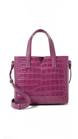 Vince Croc Embossed Baby Tote - Peony
