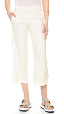 Vince Tailored Culottes - Off White