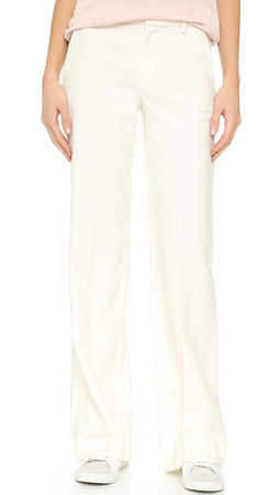 Vince Wide Leg Trousers - Off White