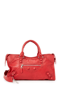 What Goes Around Comes Around Balenciaga City Bag (Previously Owned) - Red