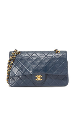What Goes Around Comes Around Chanel 2.55 Shoulder Bag (Previously Owned) - Navy