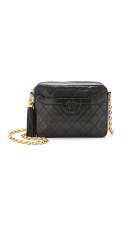 What Goes Around Comes Around Chanel Camera Bag - Black