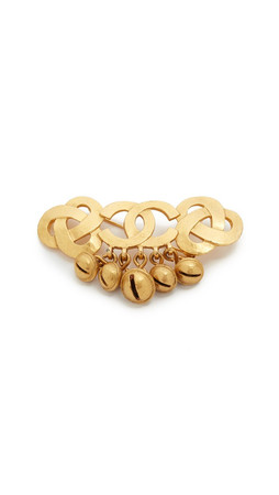 What Goes Around Comes Around Chanel Cc Bell Dangle Pin (Previously Owned) - Gold