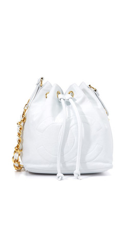 What Goes Around Comes Around Chanel Cc Bucket Bag (Previously Owned) - White