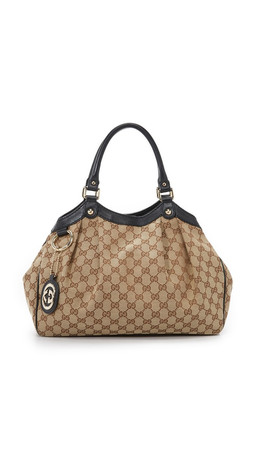 What Goes Around Comes Around Gucci Britt Shopper Bag (Previously Owned) - Natural