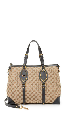 What Goes Around Comes Around Gucci Canvas Patti Bag (Previously Owned) - Brown