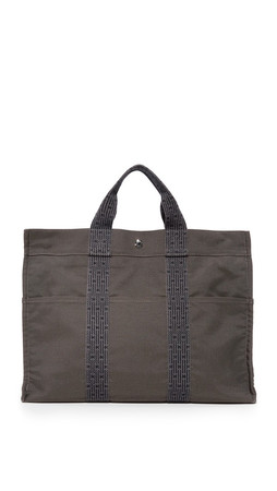 What Goes Around Comes Around Hermes Herline Tote (Previously Owned) - Grey