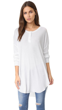 Wildfox Ian Thermal Henley - Clean White