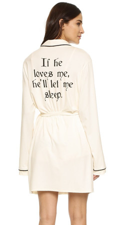 Wildfox If He Loves Me Robe - Vanilla