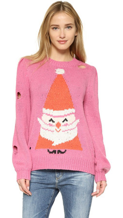 Wildfox Jingle Man Sweater - Mod Magenta