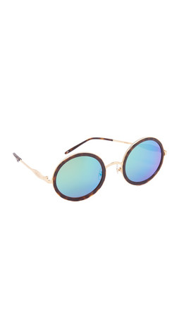 Wildfox Ryder Deluxe Sunglasses - Gold Tortoise/Green