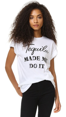 Wildfox Tequila Hour Tee - Clean White