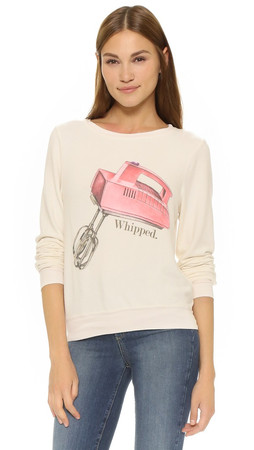 Wildfox Whipped Sweatshirt - Vintage Lace
