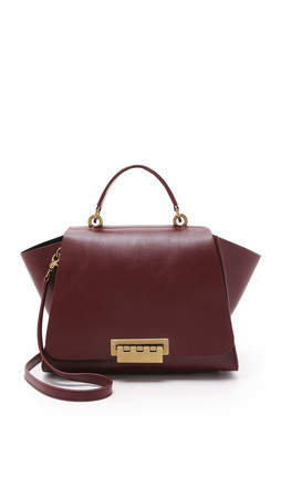 Zac Zac Posen Eartha Soft Top Handle Bag - Vino
