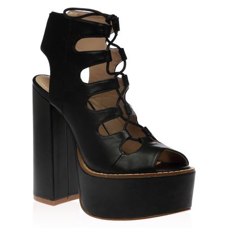 Lyla Platform Heels in Black