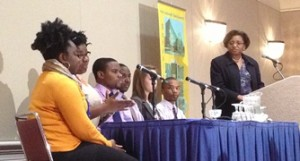 Six students—from high school seniors to graduate students—discussed their involvement with STEM studies.