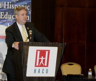 Luis Maldonado said Hispanic-serving institutions need a voice at the table in political decision making in Washington to ensure that their needs are met.