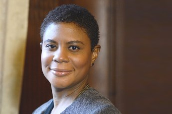 As a professor, Dr. Alondra Nelson said her objective has been to help students discover and understand the complexities of the world around them. (Photo by Thomas Sayers Ellis)