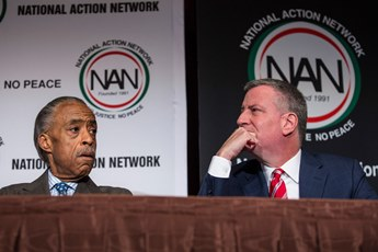 Rev. Al Sharpton with New York City Mayor Bill de Blasio agree that it's time to have a national standard for policing.